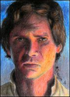 Han Solo sketch card by SvenjaLiv