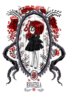 Chibi Rohesia - Rose frame by CottonValent