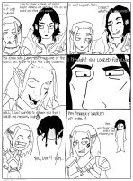 DAO: Zevran and Loghain Banter by SpiffySquiffle