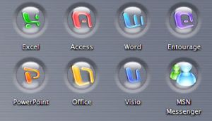 Office X Dent Icons by dazzla