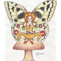 fairy on a mushroom - color 4 by thestoryteller1
