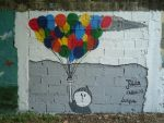 Flying like a Balloon graffiti by Julia-Fernandes