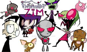 Invader Zim Group by LiluPooka