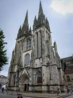 Brittany 22 - Quimper Cathedral by HermitCrabStock