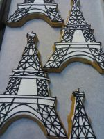 Eiffel Tower Cookies by eckabeck