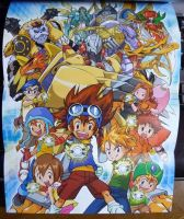 Digimon Adventure Game Poster by 3D4D