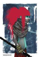 Post-apocalyptic Warrior Princess by ingunnbf
