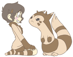 Tumblrmon: Furret by muminika