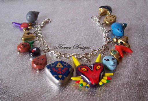 #1 Handmade Majoras Mask and OoT Charm Bracelet by TorresDesigns