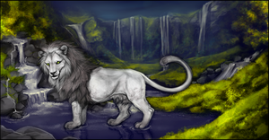 .WhiteLion. by WhiteSpiritWolf