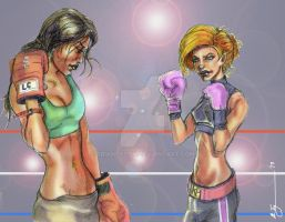 Lara Croft and Kim Possible (Boxer) 2013o by BrianTyson