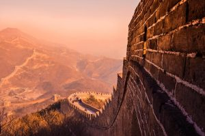 Great wall - Sunset (Experiment) by GuoYali
