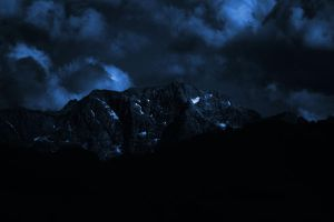 Dark Blue Mountains 02 by Limited-Vision-Stock