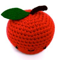 Crochet Amigurumi Red Apple by button-tree
