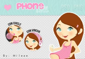 Phone doll (PNG/PSD) by TutorialesMileee