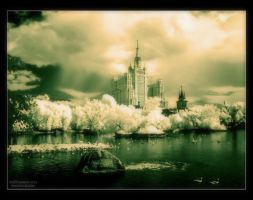 IR Moscow-city by Huntersfoto