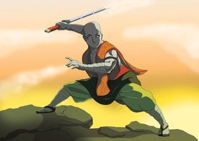 monk low stance by Link-artist