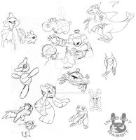 Sinnoh Pokemon Sketches
