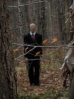 Slenderman in the Woods by The-H-Person