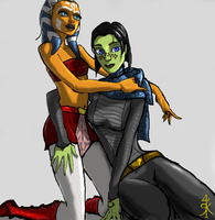 Ahsoka Tano and Barriss Offee by Raikoh-illust