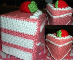 Strawberry Tissue Box Cozy by SweetNerdyCakes