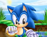 Classic Sonic Speed Paint by Chicaaaaa