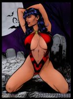 Vampirella by Di Amorim coloring by me by jbellcomic