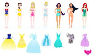 Disney Paper Dolls Part Two by spicysteweddemon