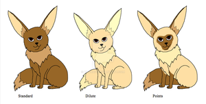 Eevee Variations part 1 by Bwabbit