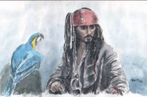 Jack Sparrow by Powerfulwoodelf