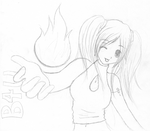 B4U_Emily close to the flame by kittenangel116