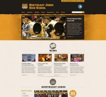 Northeast Jones High School Website Sample Design by HappyCatfishWeb