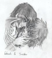 Blind Suzaku and Lelouch by EternalAlercon
