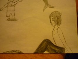 Drawings of Feliciano...Merman and Human 2 by Ti-Amo-Pasta