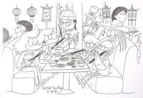 Eating at the Chinese Restaurant. by komi114