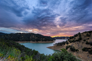 Dramatic Sunset Over Lake Berryessa, CA by gidatola