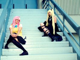 On the Staircase by Hikari-Cosplay