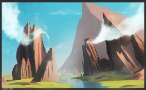 landscape concept + speed paint  video by cstlmode