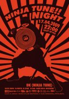 NINJA TUNE NIGHT - Poster by ocdc