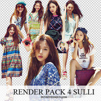 Pack 4 render Sulli by dungyonggun