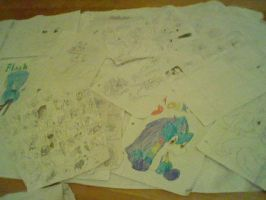 o3o So many drawings... by Pokemonic