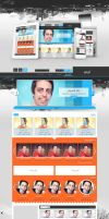 TV Website Layout (For Sale) by Hamdan-Graphics