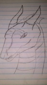 Drikvor, the War Dragon, No color, yet by DragonCall15