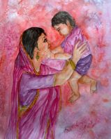 Mother and Child by Shashikanta