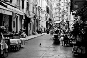 Center of Corfu city by Magiamal