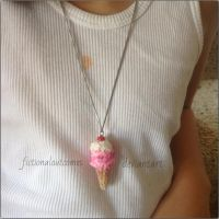 Strawberry Ice Cream Charm! by fictionaloutcomes