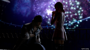 Snow proposes to Serah by mr-juanky