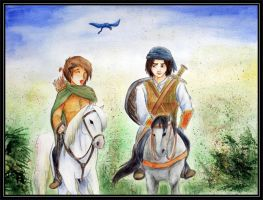 Eragon and Murtagh by Ninjameerschwein