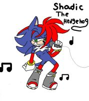 :GIFT: Shadic The Hedgehog :Inked and Colored: by ScourgeXNazo2