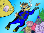Scuba Deer by Shinigami-Ziggy